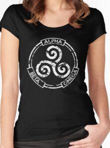 Alpha Beta Omega - Teen Wolf Women's Fitted Scoop T-Shirt