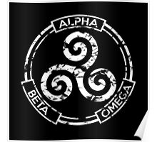 Alpha Beta Omega - Teen Wolf Poster