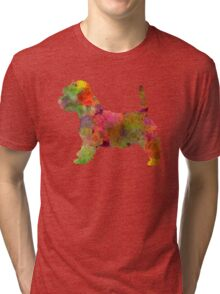 West Highland White Terrier in watercolor Tri-blend T-Shirt