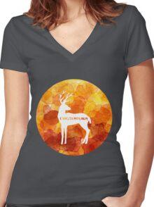 Expecto Patronum - Harry's Patronus Women's Fitted V-Neck T-Shirt