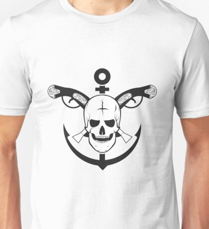 The skull of the sailor. with muskets behind Unisex T-Shirt