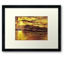 Glorious Moment Framed Print