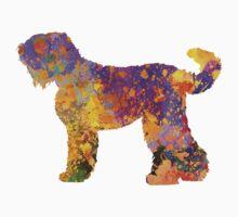 Russian Black Terrier in watercolor Baby Tee