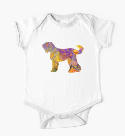 Russian Black Terrier in watercolor One Piece - Short Sleeve