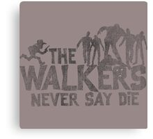 Walkers The Walking Dead  Canvas Print
