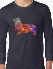 Pembroke Welsh Corgi 01 in watercolor Long Sleeve T-Shirt