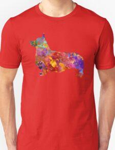 Pembroke Welsh Corgi 01 in watercolor Unisex T-Shirt