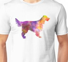Irish Red Setter 01 in watercolor Unisex T-Shirt