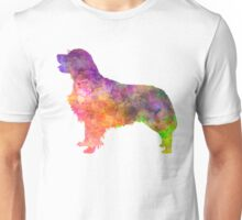 Golden Retriever 01 in watercolor Unisex T-Shirt