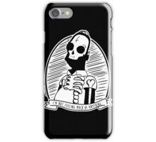 Alternative Punk Homer Simpson Skull Tattoo Art iPhone Case/Skin