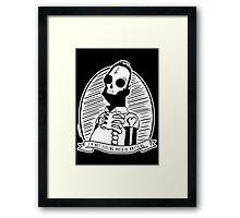 Alternative Punk Homer Simpson Skull Tattoo Art Framed Print