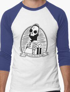 Alternative Punk Homer Simpson Skull Tattoo Art Men's Baseball ¾ T-Shirt