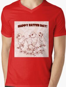 Easter chicken. Mens V-Neck T-Shirt