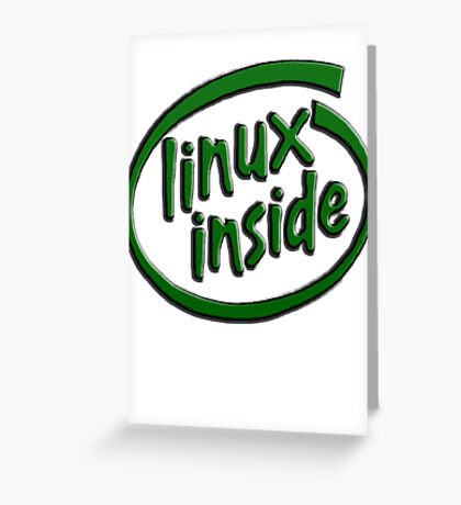 Linux Inside Greeting Card