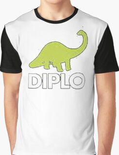 Dinosaur Diplo Green and White Graphic T-Shirt