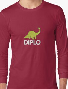 Dinosaur Diplo Green and White Long Sleeve T-Shirt