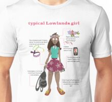Typical Lowlands girl Unisex T-Shirt