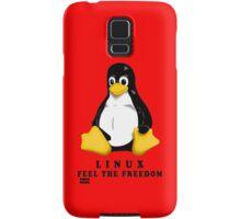 LINUX FEEL THE FREEDOM... Samsung Galaxy Case/Skin