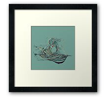 Kissing The Wave Framed Print