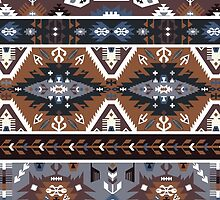 Decorative noir pattern in tribal style by Olena Syerozhym