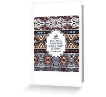 Decorative noir pattern in tribal style Greeting Card