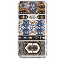 Decorative noir pattern in tribal style iPhone Case/Skin