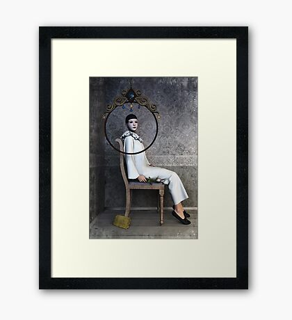 Pierrette sitting Framed Print