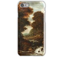 JACOB VAN RUISDAEL CIRCLE OF, LANDSCAPE WITH FIGURES AND WATERFALL. iPhone Case/Skin