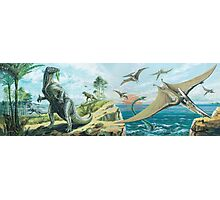 Iguanodon & Pteranodon Frieze Photographic Print