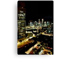 SINGAPORE CITY BY NIGHT Canvas Print