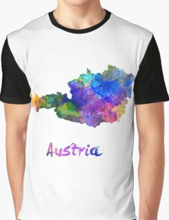 Austria in watercolor Graphic T-Shirt