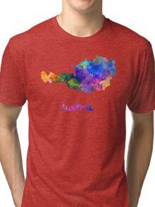 Austria in watercolor Tri-blend T-Shirt