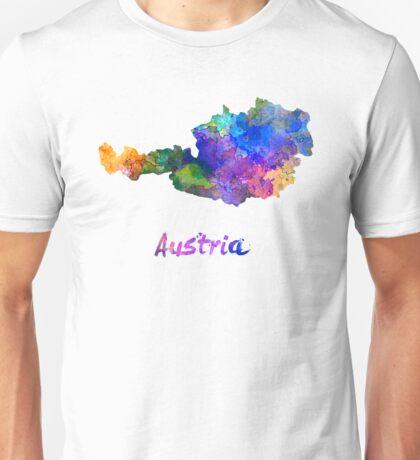 Austria in watercolor Unisex T-Shirt