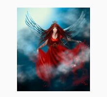 Woman queen with wings in red dress Unisex T-Shirt