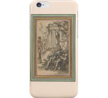 Hubert François Gravelot  Design for a Title Page to a Book of Poetry iPhone Case/Skin