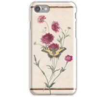 Circle of Madeleine Françoise Basseporte  Unidentified magenta flower (left). Pasque-flower (Anemone pulsatilla) (right) iPhone Case/Skin