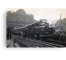 Electric Train, 1906 Canvas Print