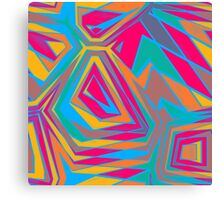 Distorted shapes Canvas Print