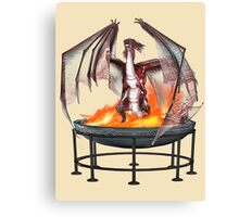 Magical Fire Dragon Canvas Print