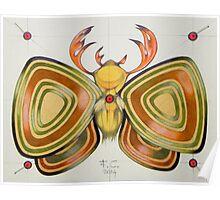 deer - moth Poster