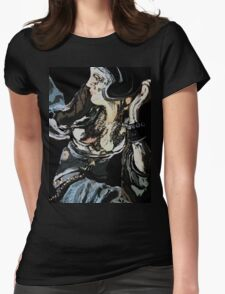 Woman abstract Womens Fitted T-Shirt