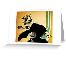 geisha pong Greeting Card