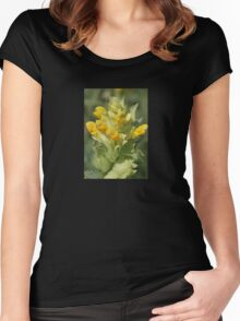 Yellow Wild Flower Rhinanthus Serotinus Women's Fitted Scoop T-Shirt