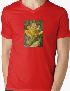 Yellow Wild Flower Rhinanthus Serotinus Mens V-Neck T-Shirt