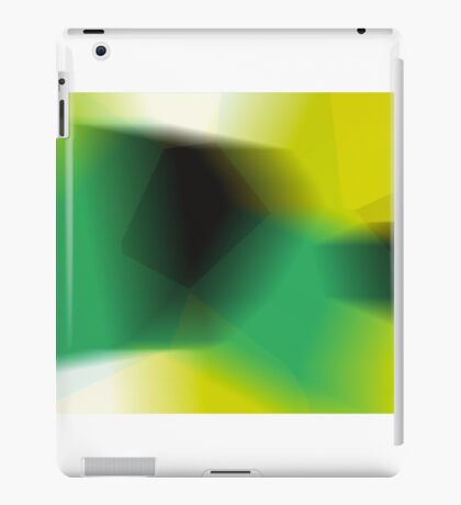 Green shades of black iPad Case/Skin