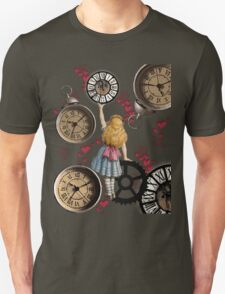 Alice In Wonderland Travelling in Time T-Shirt