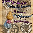 Alice In Wonderland Travelling in Time by DictionaryArt
