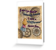Alice In Wonderland Travelling in Time Greeting Card