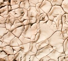 Water shortage and drought Dry cracked mud  Sticker