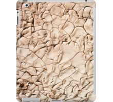 Water shortage and drought Dry cracked mud  iPad Case/Skin